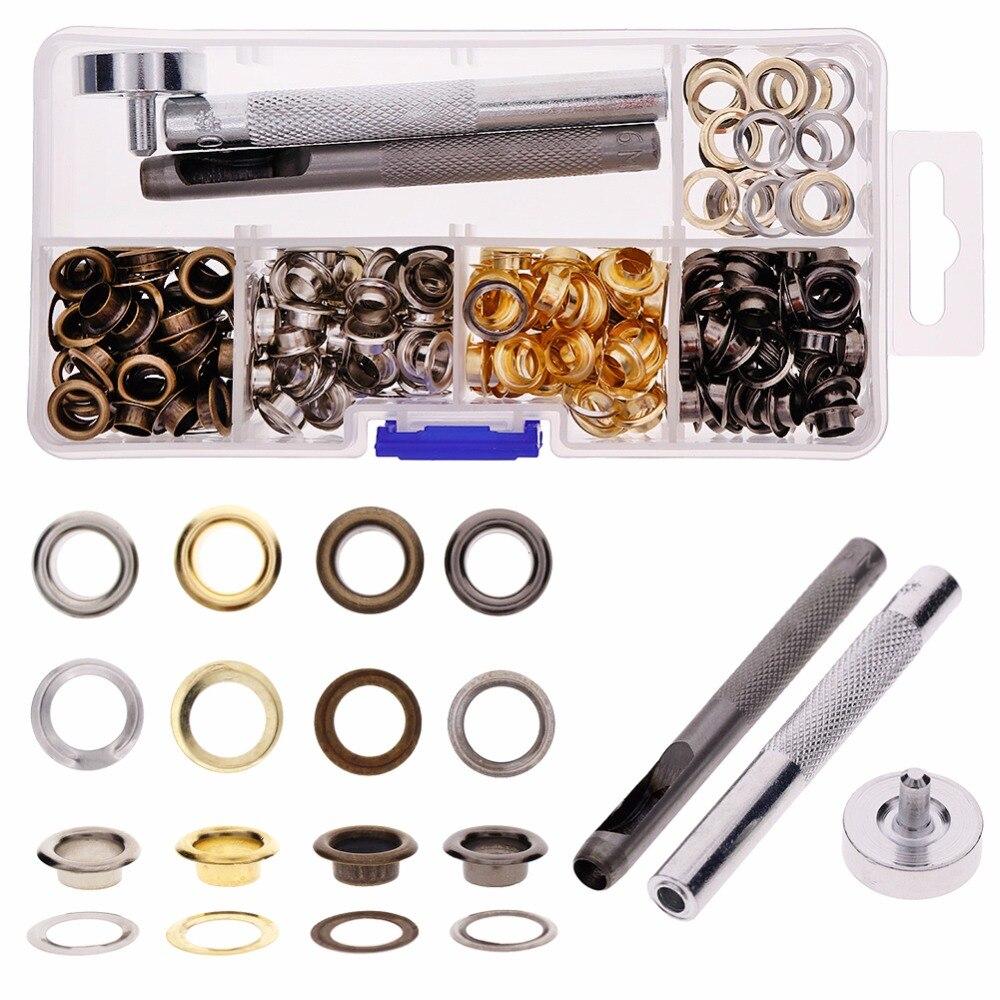 Hot Sale 200Pcs Set Leather Fixing Tool Craft Repair Snap Fastener Kit Rivets Craft Decor Tool Set #271992