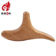 Ароматная деревянная треугольная птица Очищающая палочка для ног палочка для иглоукалывания скребок Акупунктура точки тела тригменальный массажер Бесплатно sh