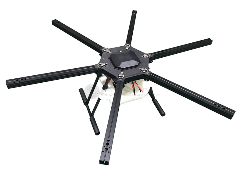 SU1350-2 10L de pulvérisation Agricole drone parapluie pliant hexacopter pur cadre en fiber de carbone kit + 10 KG pulvérisateur kit carré aile bras