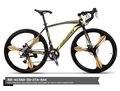 Eurobike 700c * 49 cm estrutura de aço da bicicleta da bicicleta ciclismo de estrada freio a disco de bicicleta 21 bicicleta de corrida de velocidade não dobrável bicicleta 160-185 cm