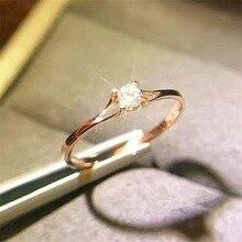 ZHOUYANG, простое классическое кольцо Forever для женщин, четыре когтя, мини кубический цирконий, розовое золото, серебро, цвет, подарок, модное ювелирное изделие KCR231