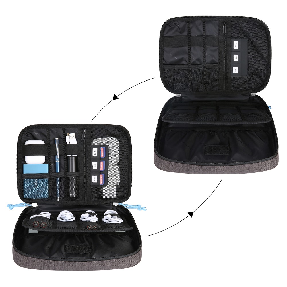 The Seven Deadly Sins Electronic Accessories USB Cable Organizer Storage Pack Bag Travel Cases Houseware Bags for Charging Cable,Cellphone,Power Bank,Earphone Charger Phone and More