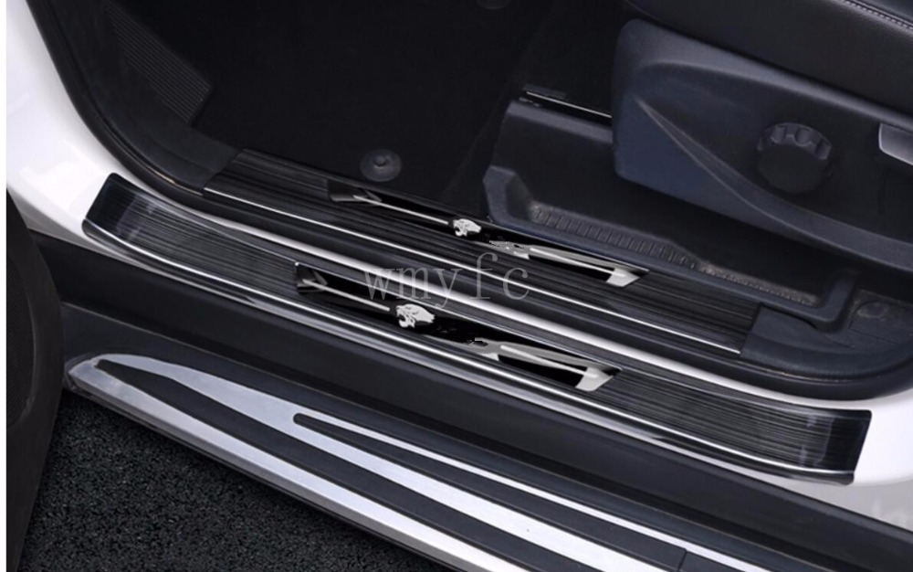 Car Styling Sticker For ford kuga 2013 2014 2015 2016 2017 Stainless steel Door Sill Scuff Plate Guards Door Sills Protector jakemy multitool jm 6101 magnetic ratchet screwdriver set home repair kit mobile phone tool for iphone laptop electronic tools