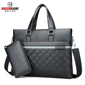 Image 4 - Classic Plaid Design Business Man Bag Vintage Brand Mens Messenger Bag Casual Business Male Shoulder Bags For Male bolsa Hot
