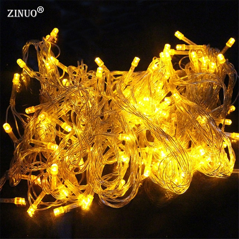 ZINUOa 220V 10m 100 LED String Light 9 Colors Choice Outdoor Fairy Light Waterproof New Year Party Christmas Luces Decoration