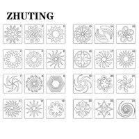 24 قطعة ماندالا دهان داي قوالب الرسم حاكم استنسل سكرابوكينغ أدوات الكتابة الحرف مشاريع فنية