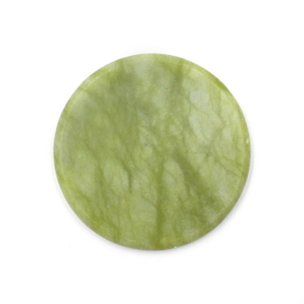 Круглый Нефритовый камень накладные ресницы для наращивания клей поддон подставка держатель для ресниц Клей инструмент для макияжа TSLM2 - Цвет: Green
