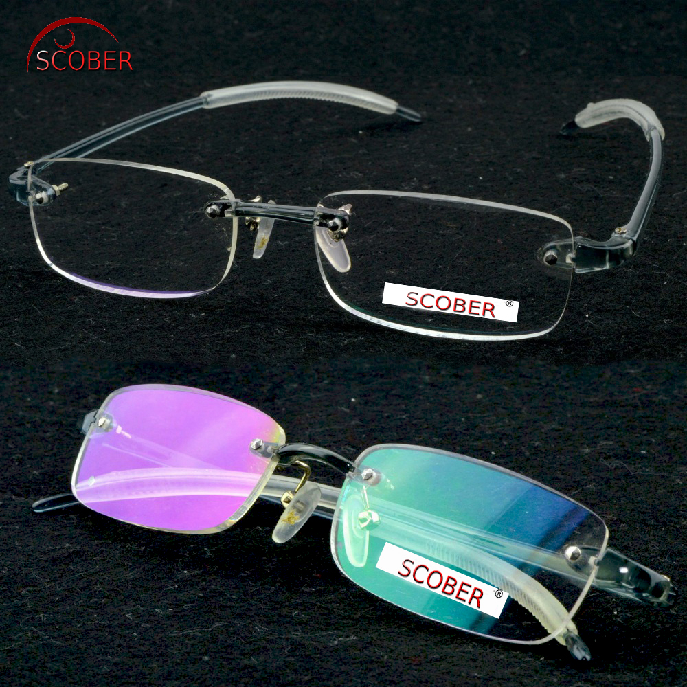 ! Three Pairs ! Rimless Frameless ultra Light elastic Antislip Men Women coated Reading Glasses +1 +1.5 +2 +2.5 +3 +3.5 +4