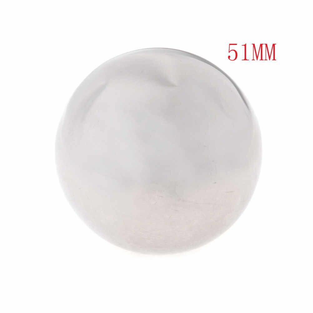 Esfera de brillo alto Esfera de acero inoxidable espejo esfera hueca 16mm/32mm/51mm adornos de jardín decoración del hogar