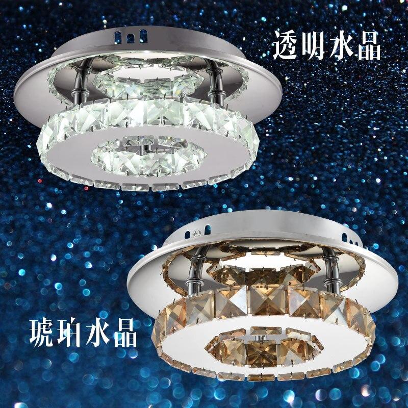 Borde dedicado LED redondo de cristal lámpara de techo luces de pasillo moderno simple pasillo lámparas de iluminación - 5