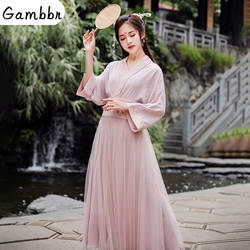 Классический женский взрослый Национальный Китай древний китайский традиционный Сказочный ханфу народный танцевальный костюм Династия