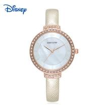 2016 ДИСНЕЙ оригинальный бренд моды смотреть женщин стразы кристалл кожаный ремешок дамы кварцевые часы платье часы montre femme