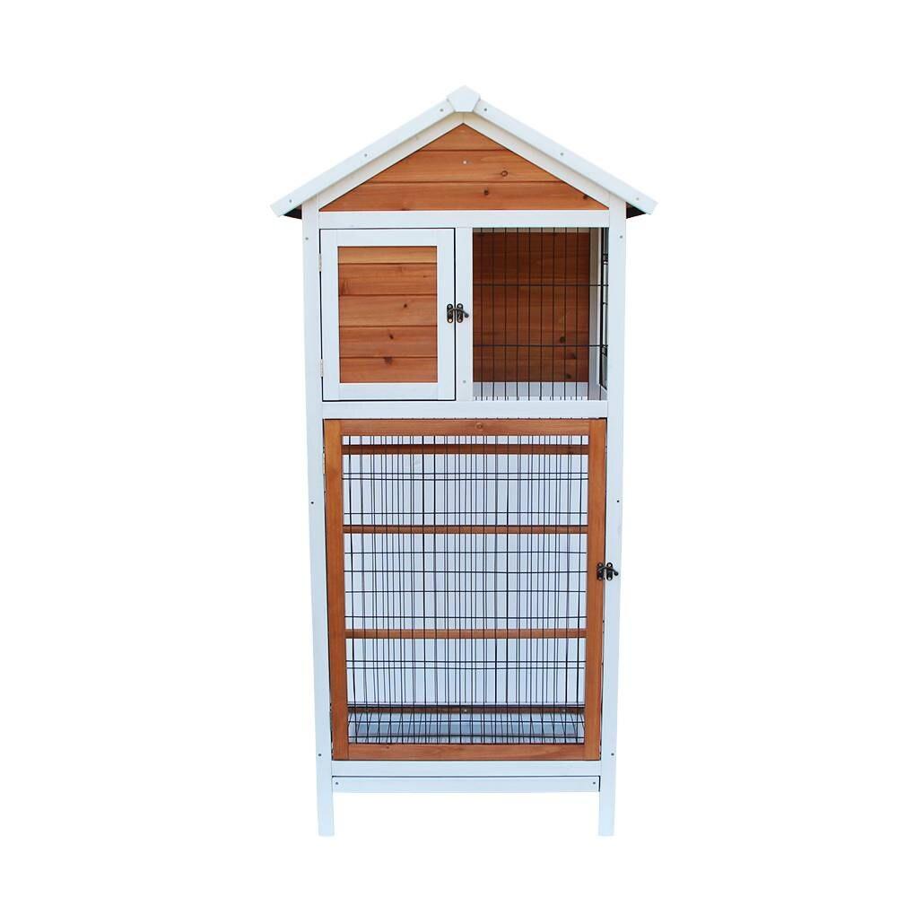 Cage à oiseaux en bois perruche Cockatiel canari Finch Conure jouer maison Pet approvisionnement