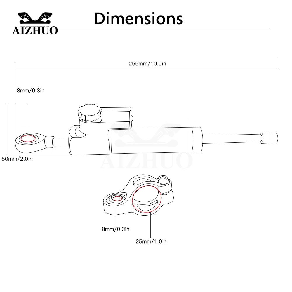 Cnc Aluminum With Fz8 Motorcycle Damper Steering Stabilize Safety 2005 Yamaha Fz6 Fazer Electric Cable Routing Diagram If Your Bike Requires A Bracket For It This As Well You No Longer Have Most Of Local