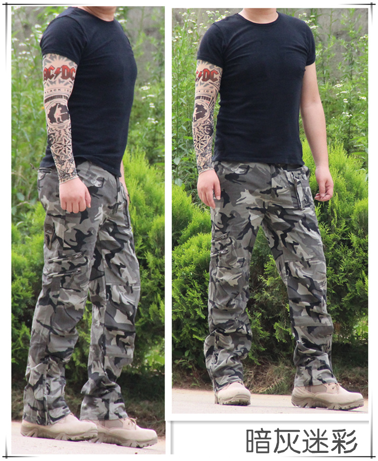 Airborne Multi Pocket Military Army Jeans For Men