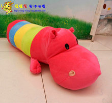 cute lovely hippo toy plush doll colorful cartoon hippo doll gift toy about 40cm