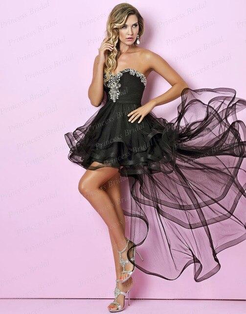 Lujoso Vestido Corto A Largo Prom Bosquejo - Colección del Vestido ...