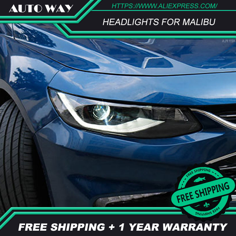 Car Styling Head Lamp case for Chevrolet Malibu 2017 2018 Headlights Malibu LED Headlight DRL Lens