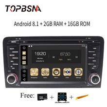 TOPBSNA 7 дюймов 2 Din Android 8,1 автомобильный dvd для Audi A3 S3 2002-2011 gps навигации радио мультимедийная Главная панель autoaudio Wi-Fi стерео