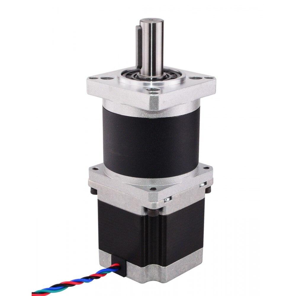 Высокая Точность Планетарный Шестерни коробка Nema 23 шаговый двигатель редуктор Шестерни соотношение 10:1 4-вывод 2.8A для ЧПУ 3D-принтеры двигате...
