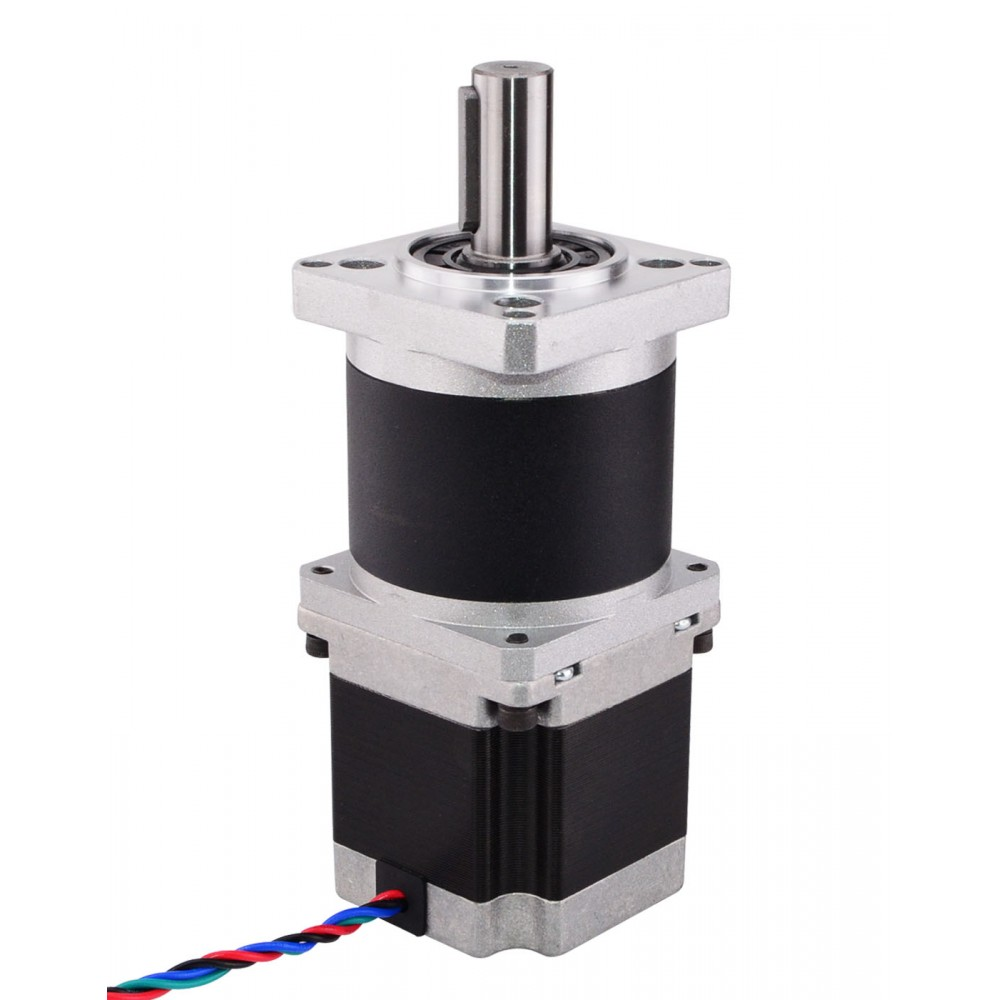 High Precision Planetary Gearbox Nema 23 Stepper Motor Reducer Gear Ratio 10:1 4-lead 2.8A for CNC 3D Printer Motors ratio 5 1 planetary gear nema 23 stepper motor with gearbox reducer motor l76mm 3a 1 8nm for cnc engraving milling