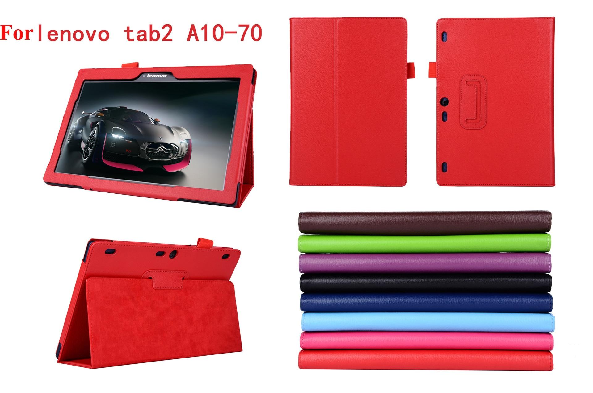 For lenovo Tab2 A10 70 Smart  Flip Leather Tablet Case Cover for Lenovo Tab 2 A10-70 A10-70F A10-70L tablet 10.1'' Tablet Case