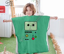 Cartoon adventure time funny Hooded baby Boys and Girls Towel Wearable Bath Towel For Kids Travel 3D print Beach Towels style-1 molly moon s hypnotic time travel adventure