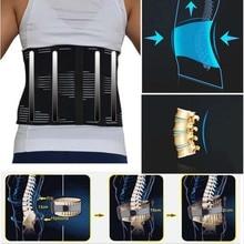 Ortopedik iç çamaşırı erkekler için fıtık disk Brace lomber korse düşük bel ayarlanabilir kabartma geri ağrı kemer bel desteği