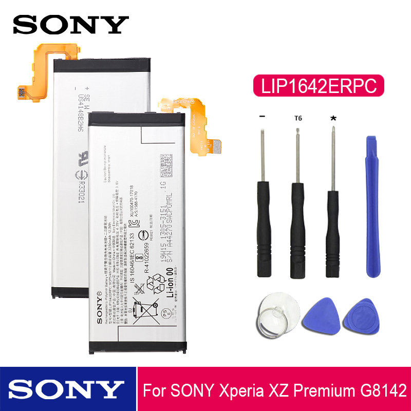 Sony Original Phone Battery LIP1642ERPC For Sony Xperia XZ Premium G8142 XZP G8142 G814 Replacement Phone Batteries 3230mAh