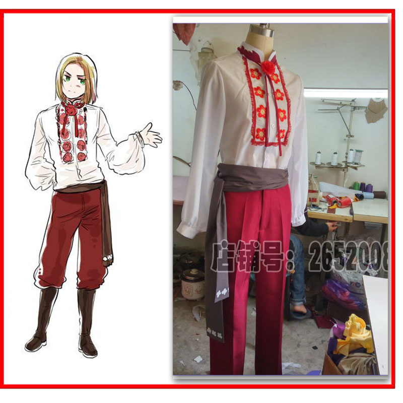2012 APH Axis Powers Hetalia Felix Lukasiewicz Cos Anime Party Cosplay Costume Uniform Clothing Suit Unisex image