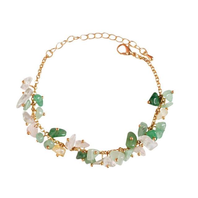 Sprzedają się jak ciepłe bułeczki biżuteria lato świeże zielone światło kolor kamienia bransoletka bransoletka dziewczyny