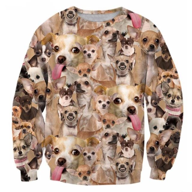 6ba6e6a2347a New Fashion Men Womens Sweatshirts Long sleeve Sweats Cute Dogs 3d print  casual Hoodies Unisex Crewneck Pullovers clothing Tops