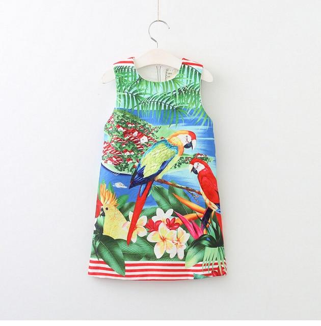 6711bab02319 New Girls Dress Spring Summer Baby Girls Vest Dress 3 D Printing ...