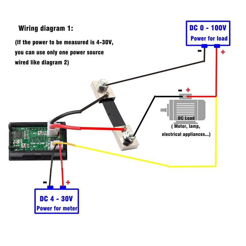 dual display digital voltmeter ammeter blue red led amp volt meter rh aliexpress com digital volt amp meter circuit diagram digital volt amp meter circuit diagram