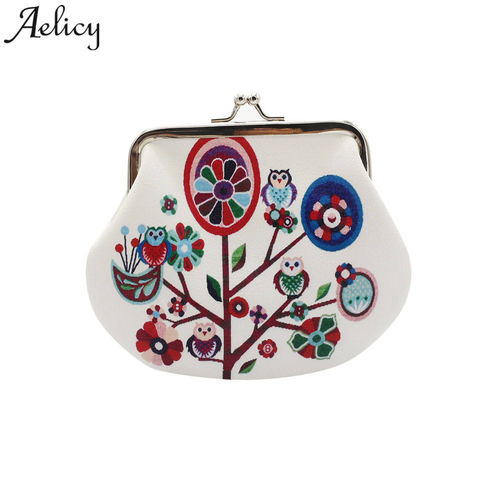 Aelicy 2018 Womens Owl Wallet Card Holder Coin Purse Clutch Handbag Fresh And Lively Fashion Coin Purse Women Small Wallet hot sale womens corduroy small wallet holder coin purse clutch handbag bag coin purses wholesale de13