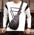 Bag Leather Sling Chest Vintage Pack New Bag Shoulder Faux Men's Messenger