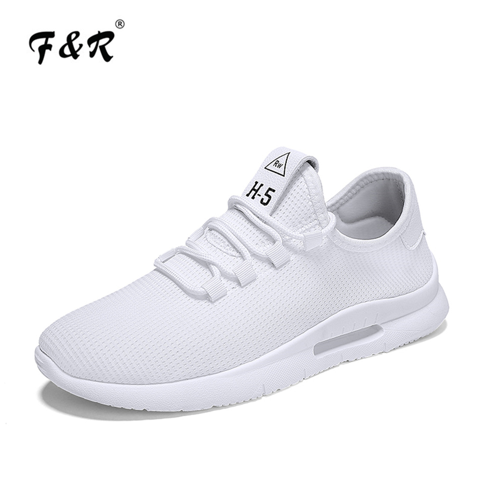 F&R 2018 Men Running Shoes Men Mesh Breathable Sneakers Sports Comfortable Fitness Walking Tennis Shoes Outdoor Athletic Shoes