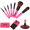 7 UNID Pinceles de Maquillaje Profesional de Maquillaje Cepillo Kit de Los Ojos de La Cara Maquiagem Cepillos Eléctricos Belleza Tool + Caja De Metal Caja de Regalo GUB #