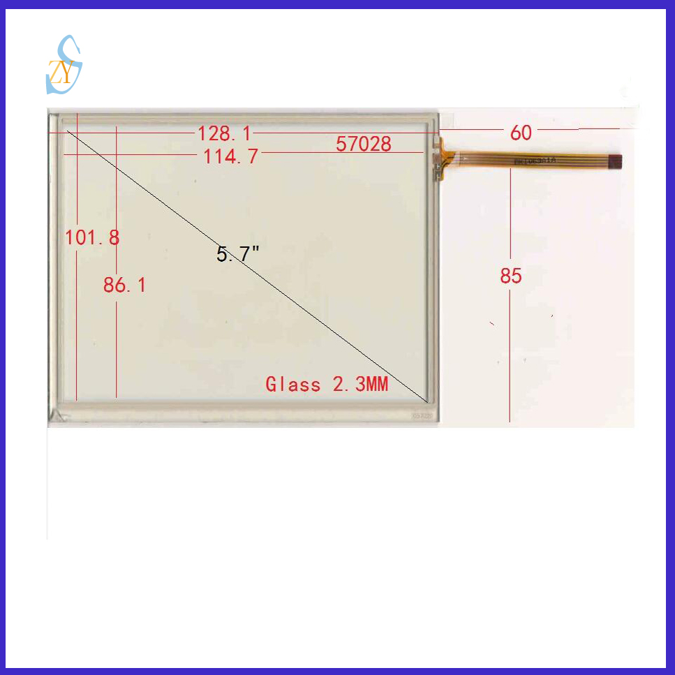 ZhiYuSun 057028 5.7 inch 128*101 4 wire TOUCH SCREEN touch panel ...