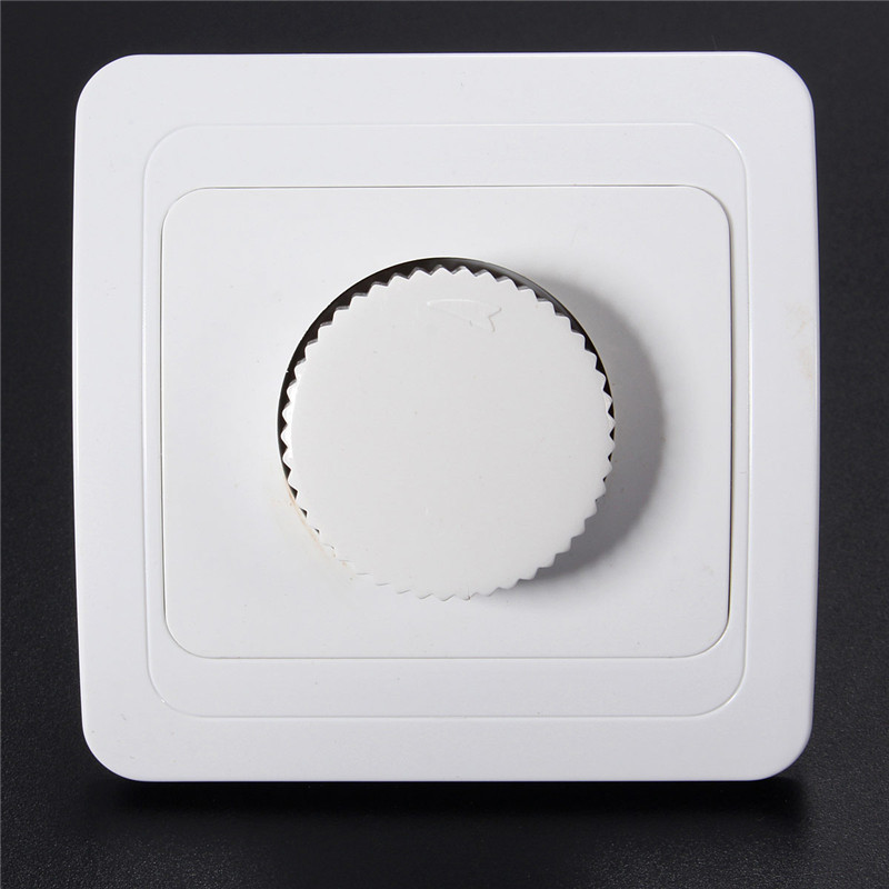 NEW AC Rotary Dimmer Switch Light Intensity Brightness Control Socket Panel 4A Max  AC 110V / 220V White Favorable Price high quality table lamp full range dimmer gold tone rotary switch 2 wire connector