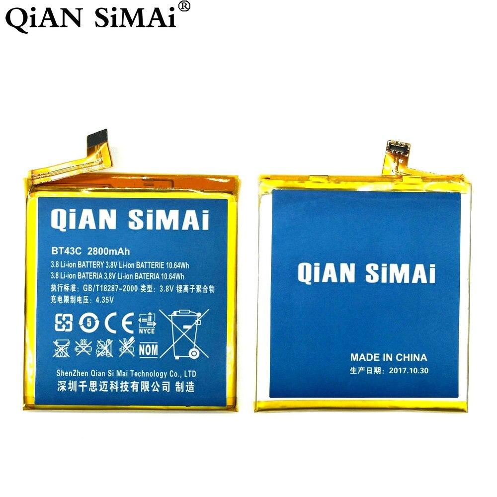 Цянь Симаи высокое качество BT43C 2800 мАч Батарея для Meizu M2MINI M2 мини мобильный телефон Бесплатная доставка + код отслеживания