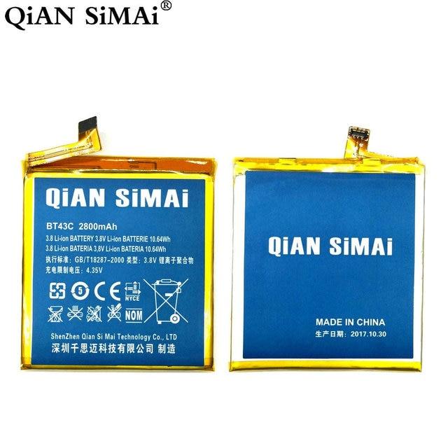 Цянь Симаи высокое качество BT43C 2800 мАч Батарея для Meizu m2mini m2 mini мобильного телефона Бесплатная доставка + код отслеживания
