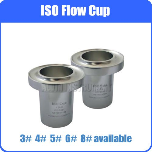 Free Shipping ISO Flow Viscosity Cup Viscometer Flow Cups Anodized Aluminum ISO 2431 DIN 53224 EN 535 ASTM D5125 3# 4# 5# 6# 8#  цены