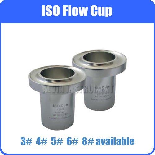 ISO Flow Viscosity Cup Viscometer Paint Flow Cups Anodized Aluminum DIN 53224 EN 535 ASTM D5125 high quality iso flow cup with standard iso 2431 din 53224 en 535 astm d5125 3 4 5 6 8