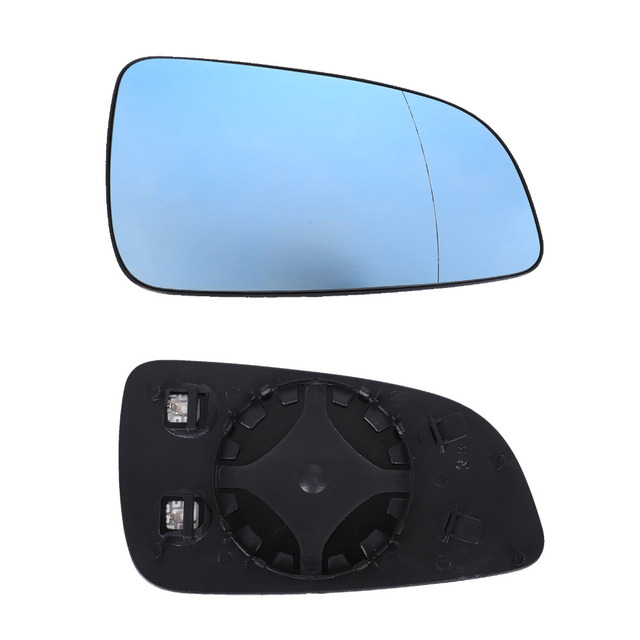 Car Wide Angle Heated Rearview Door Mirror For OPEL Astra 2004-2008 Right/Left Backing Plate Heating Element Blue Car Mirrors