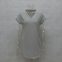 Casual Striped Dress V Neck Summer Style Beach Wear