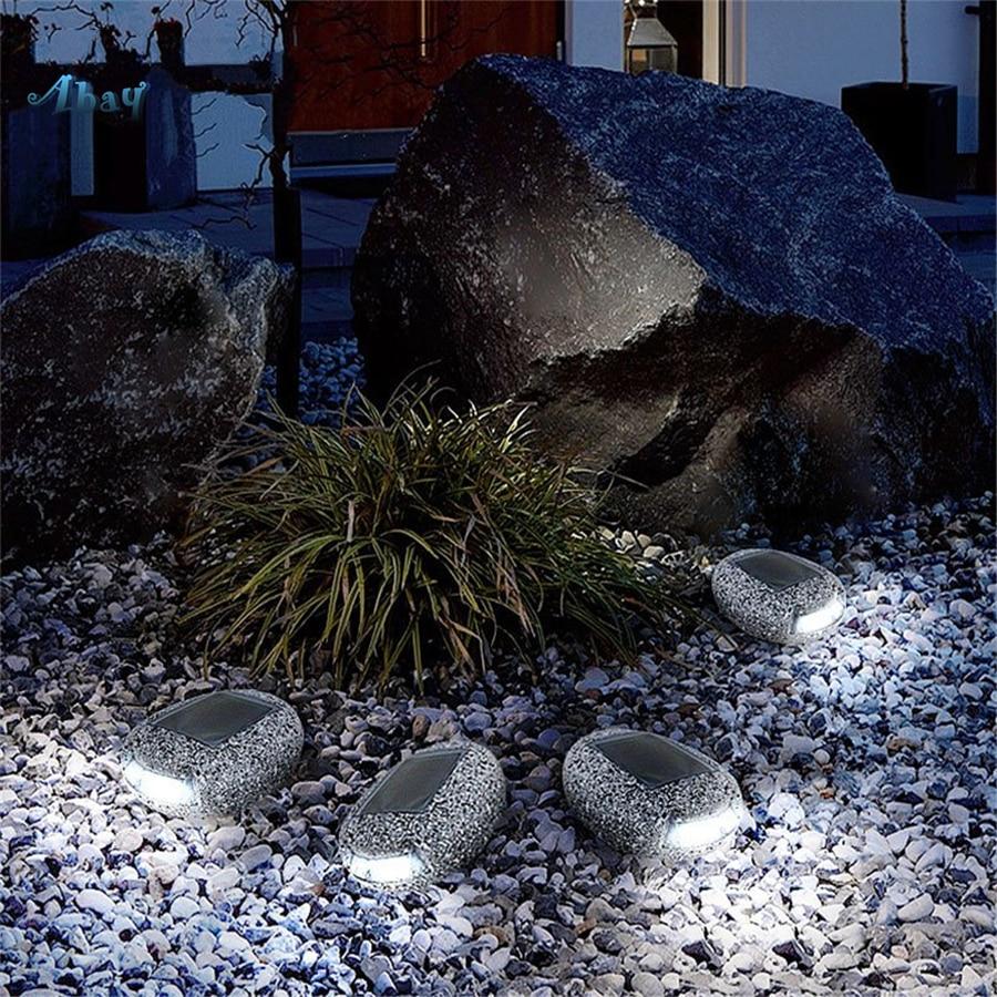 Креативный наружный имитационный камень солнечной энергии ночной Светильник для бара сада парка декоративный водонепроницаемый светодио