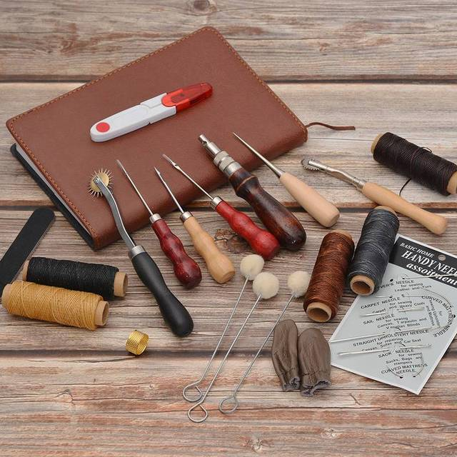 US $0 67 31% OFF|DIY Multiple Specification Wax Line Leather Cotton Line  Thread Leather Stitching Tool Leather Tool Set Handmade Leather Art-in