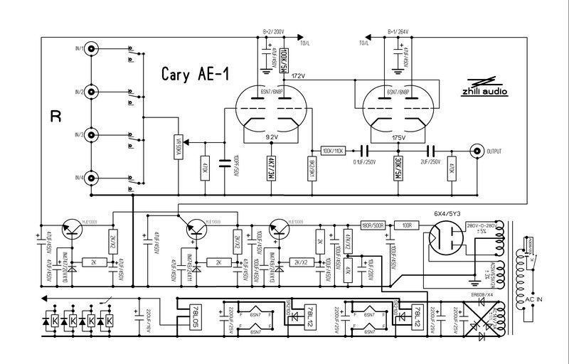 Famous circuit 6SN7 Tube preamplifier DIY KIT refer Cary AE-1 preamp HIFI  audio option bare pcb board pre-amp