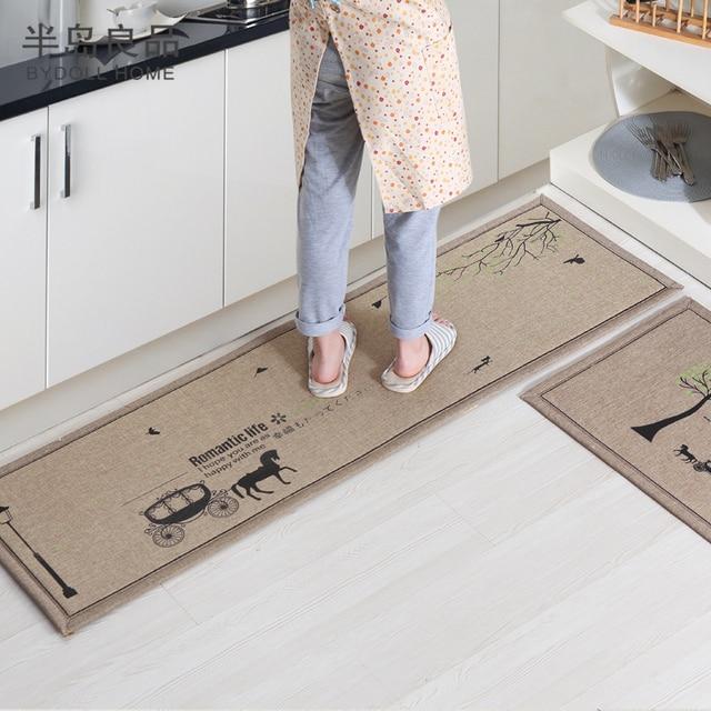 50x80cm 50x160cm Set Doormat Non Slip Kitchen Carpet Bath Mat Home Entrance Floor Hallway Area Rugs
